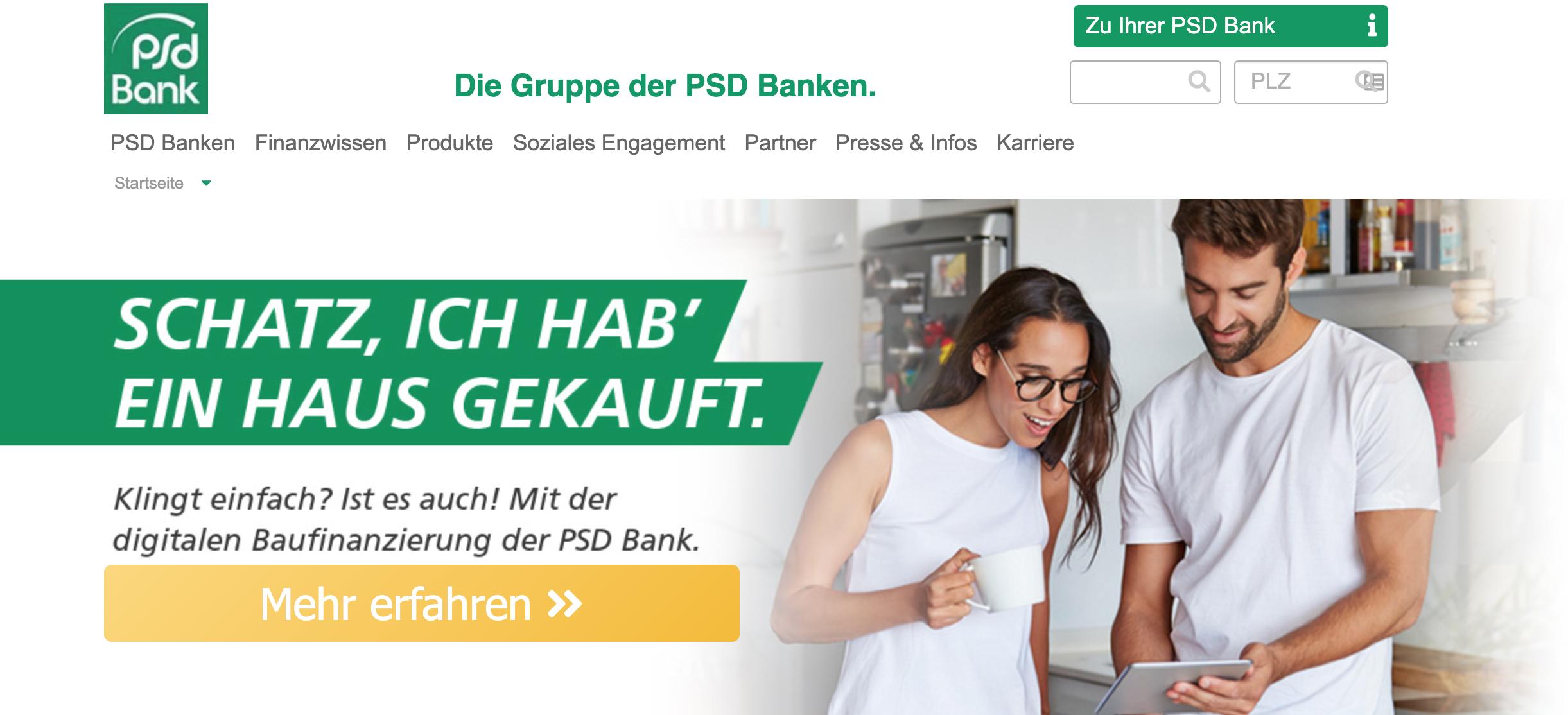 PSD Bank Erfahrungen - Seriöser Anbieter?