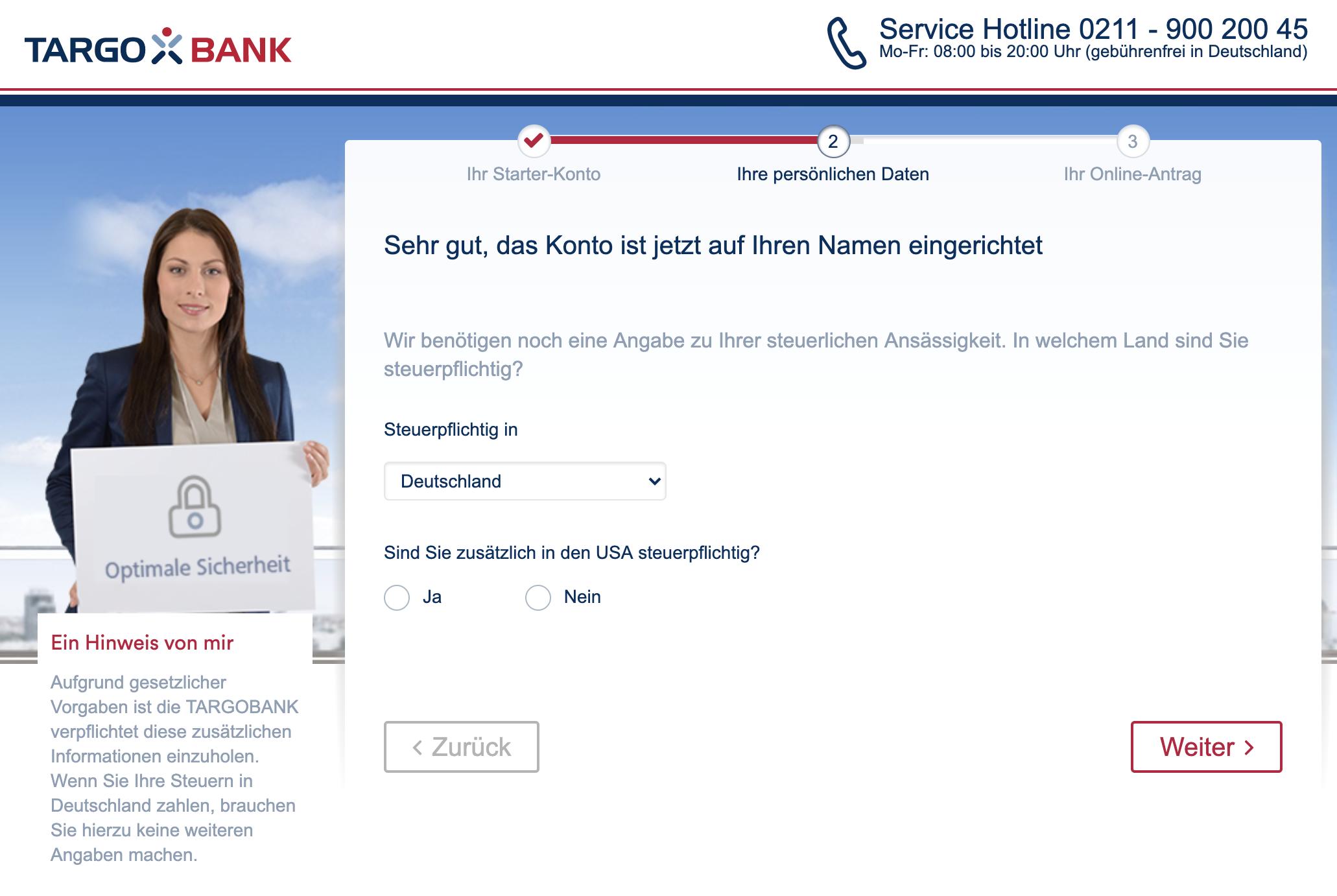 Targobank Girokonto Online Antrag Steuerpflichtig?