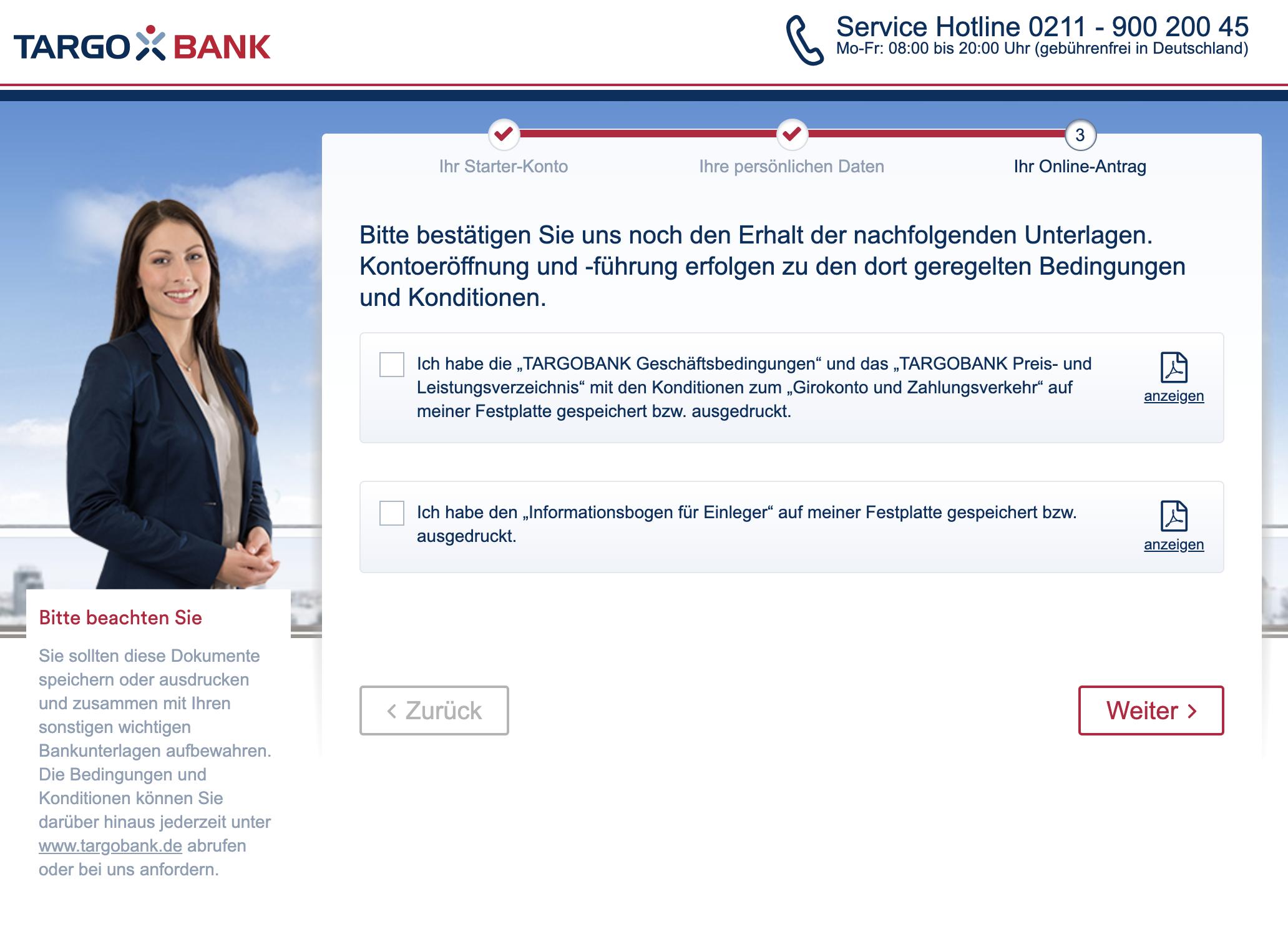 Targobank-Girokonto-eröffnen-Zustimmung-der-Geschäftsbedingungen-und-des-Preis-Leistungsverzeichnis