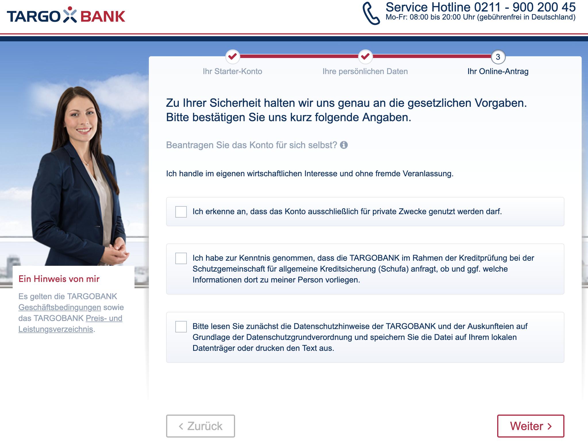 Targobank-Girokonto-eröffnen-online-Sicherheitsabfrage